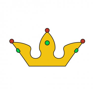 Party Crown Icon. Editable Outline With Color Fill Design. Vector Illustration. icon