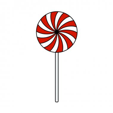 Stick Candy Icon. Editable Outline With Color Fill Design. Vector Illustration. icon