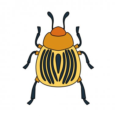 Colorado Beetle Icon. Editable Outline With Color Fill Design. Vector Illustration. icon