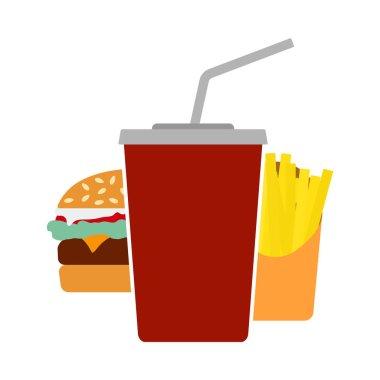 Fast Food Icon. Flat Color Design. Vector Illustration. icon