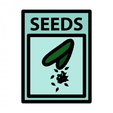Seed Pack Icon. Editable Bold Outline With Color Fill Design. Vector Illustration. icon