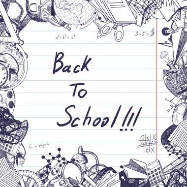 Back to school copy space