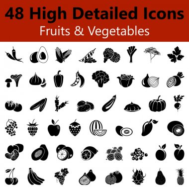 Fruits and Vegetables Smooth Icons