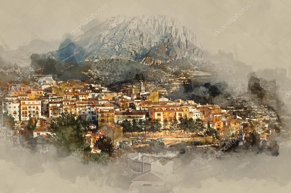 Sella village, old village in Spain