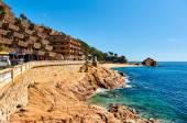 Spanish resort town of Tossa de Mar, Costa Brava, Catalonia. Spain