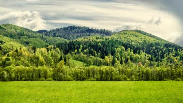 Časová prodleva. Hory na jaře. Slovensko