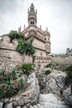 Part of Colomares Castle. Benalmadena town. Spain