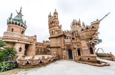 Colomares Castle in Benalmadena town. Spain