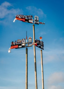 Weather vane against blue sky. Nida, resort town in Lithuania