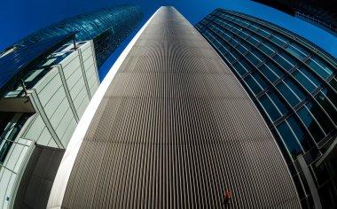 Glass modern skyscrapers of Frankfurt am Main, Germany