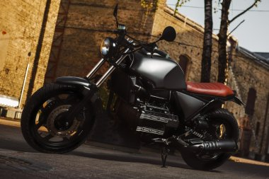 Cafe-racer motorcycle outdoors