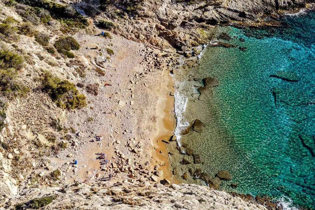 Picturesque small cove and lagoon. Benidorm, Costa Blanca. Spain