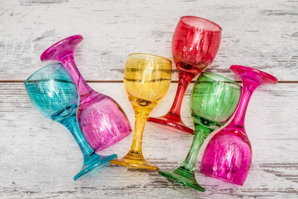 Wiersz O Multi Kolorowe Okulary Zdjęcie Stockowe Hskoken