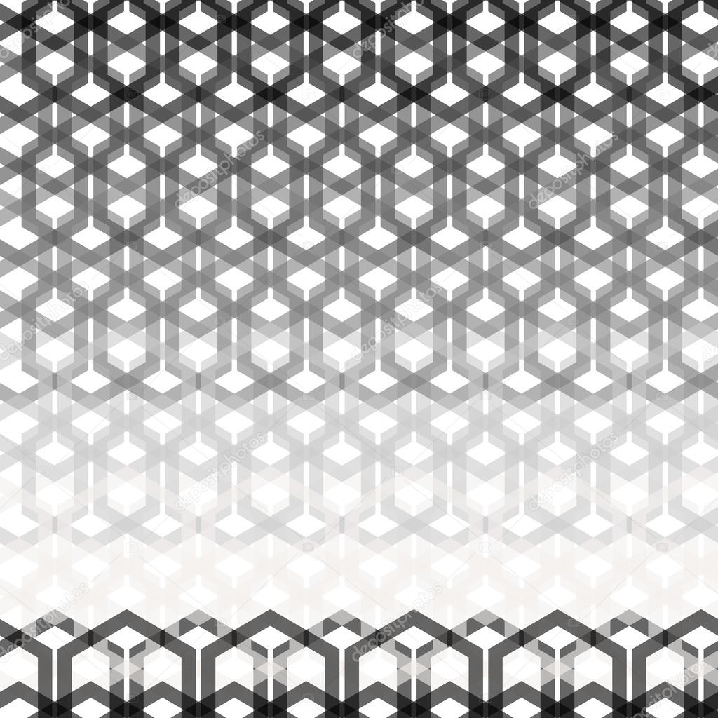 Nahtlose geometrische abstrakte Muster aus Hexagon-Drähte ...