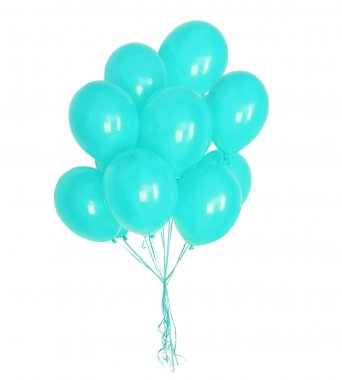 turquoise balloons
