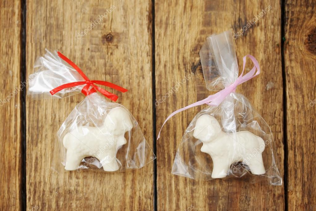 chocolate in the form of a lambs