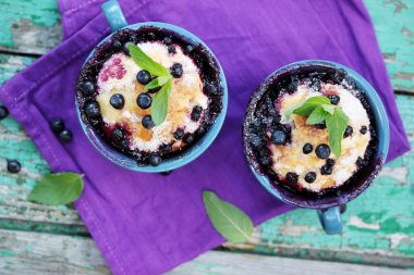 Pies with blueberries