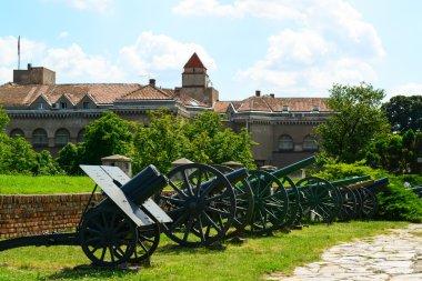 View of military Museum in fortress Kalemegdan in Belgrade, Serb
