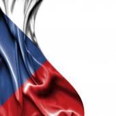 Česká republika, mává satén vlajky izolovaných na bílém pozadí