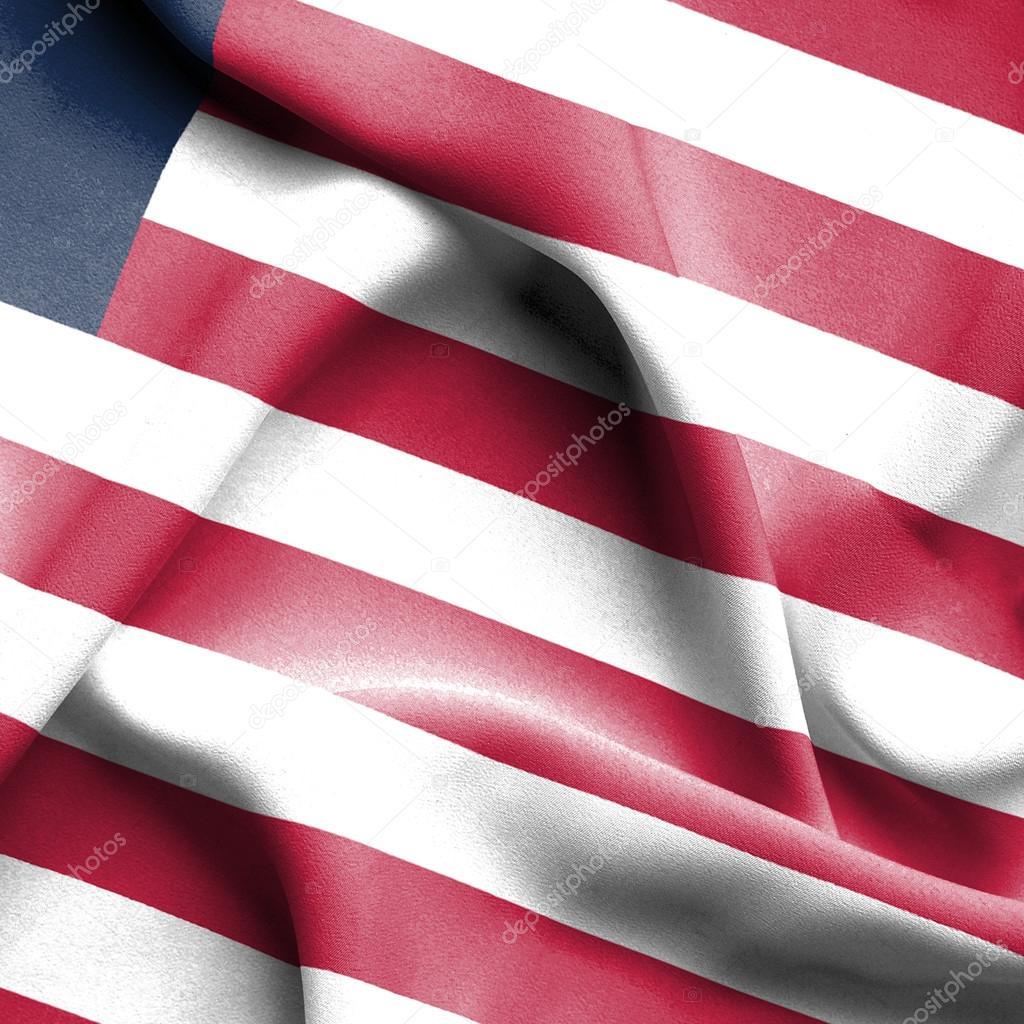 Liberia waving flag — Stock Photo © Alexis84 #70446761