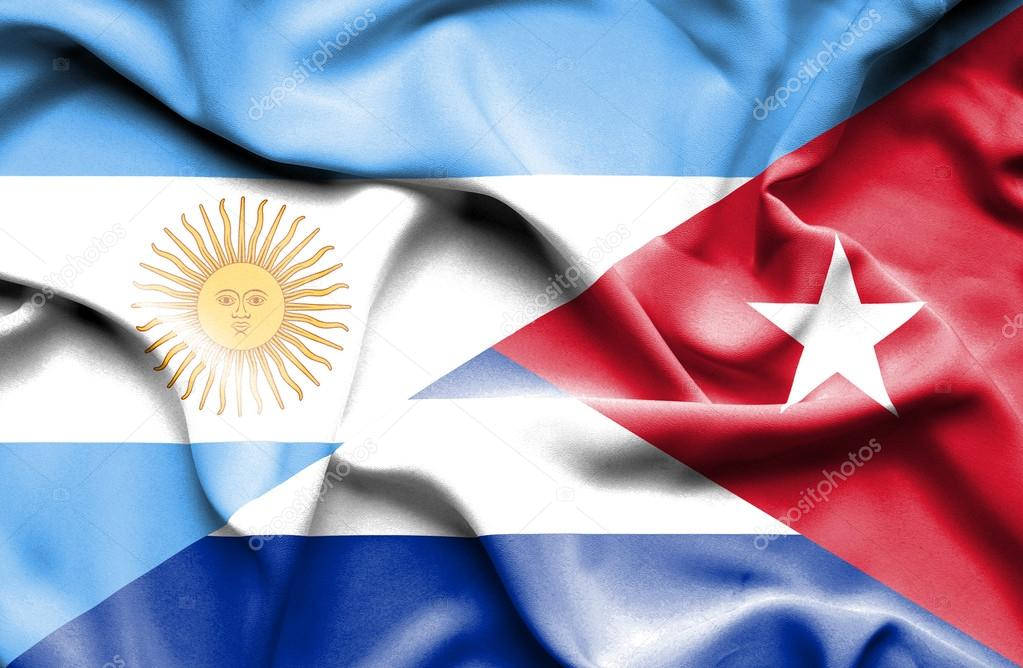 Waving flag of Cuba and Argentina — Stock Photo © Alexis84  74577751 b3891409b35