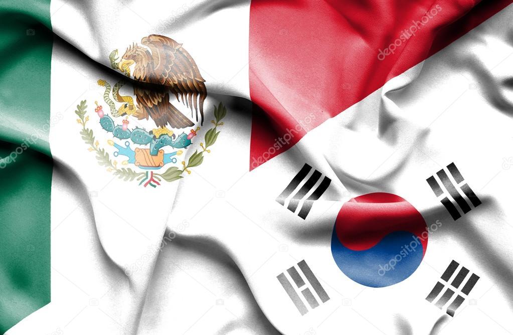 Bandera De Corea Del Sur Y México