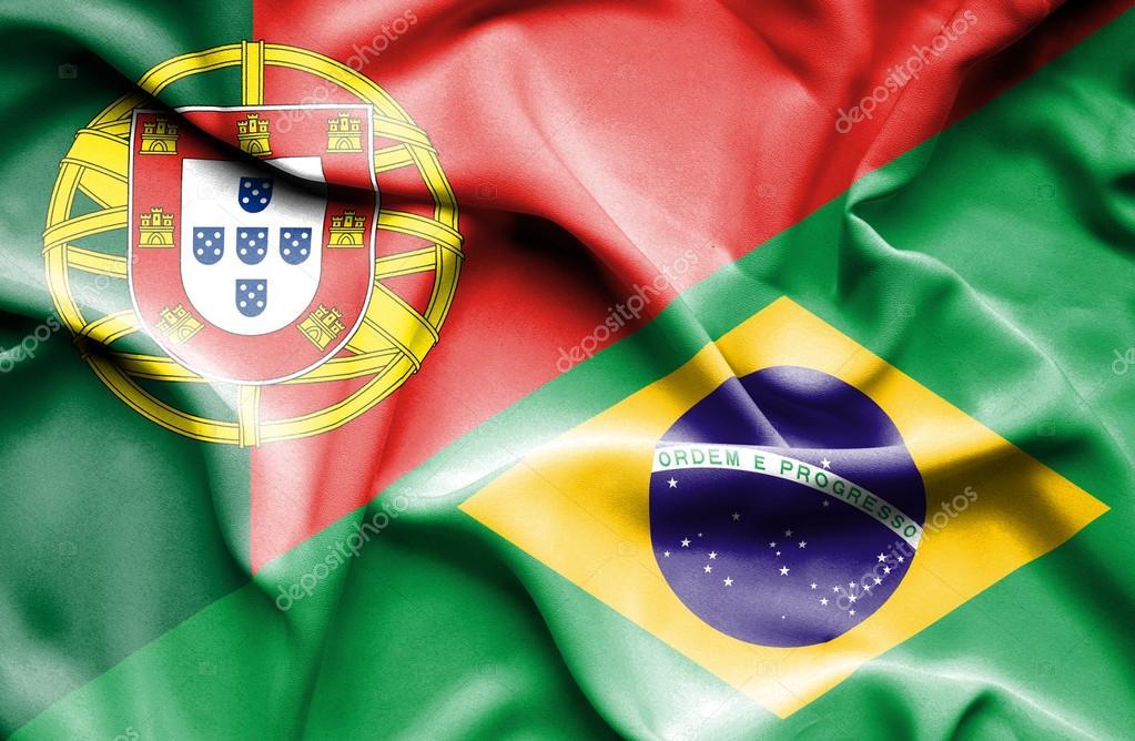 Bandeira do Brasil e portugal — Stock Photo © Alexis84  75621705 a68ac2d21fec2
