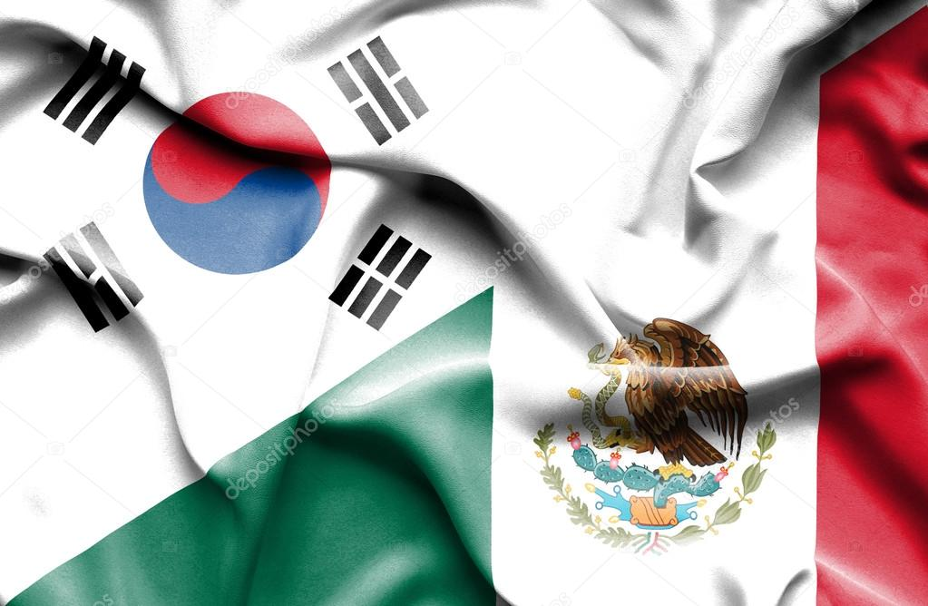 Bandera De Mexico Y Corea Del Sur Foto De Alexis