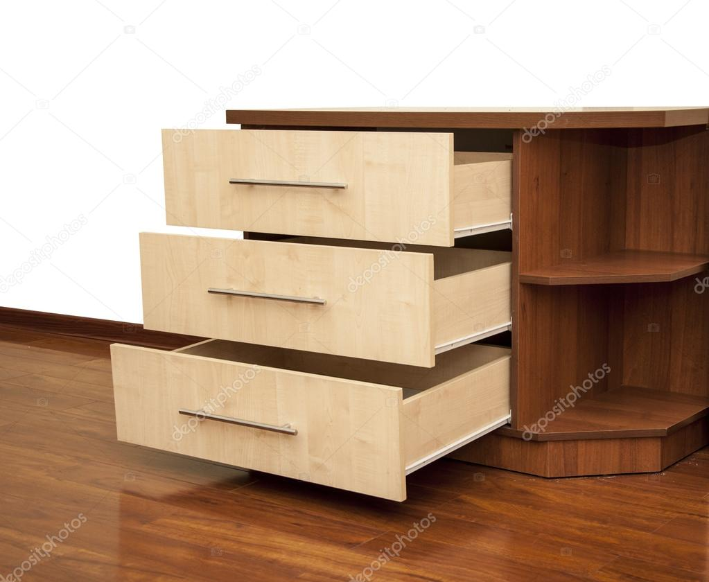 table de chevet en bois moderne à l\'étage dans la chambre à coucher ...