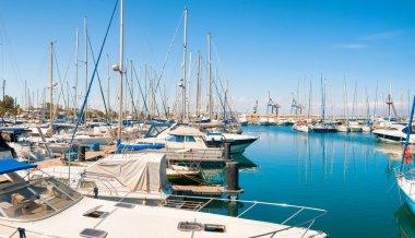 Panoramic view of Larnaca marina. Cyprus
