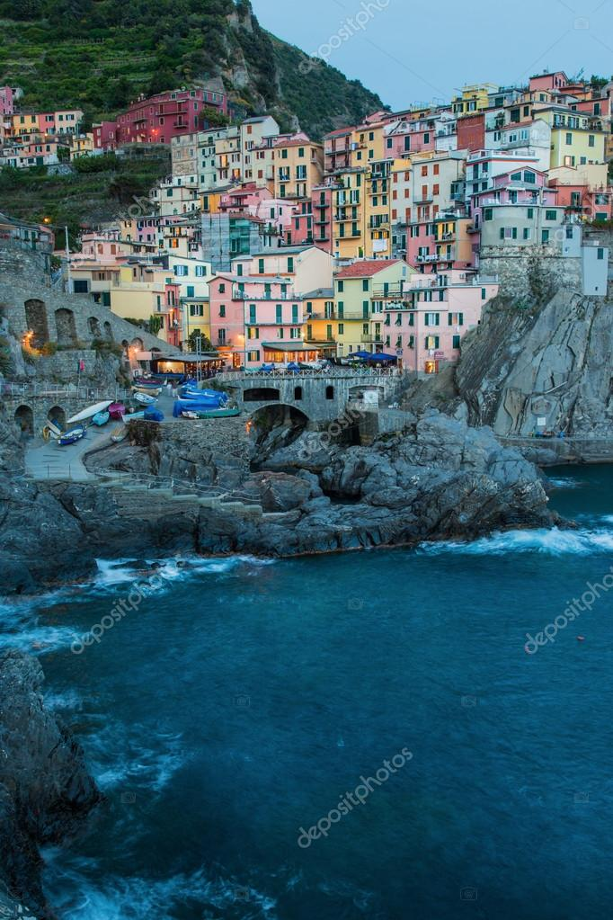 Manarola village on the Cinque Terre coast.