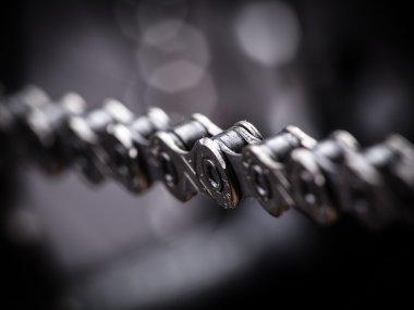 Macro shot of mountain bike chain