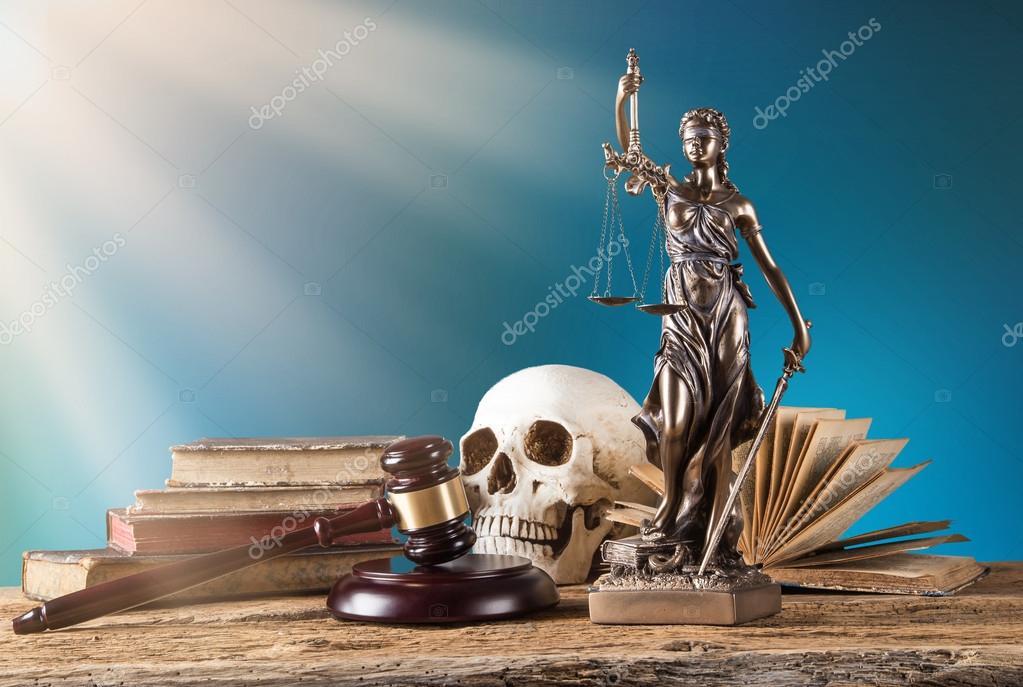 Themis em destaque, conceito de lei . — Fotografia de Stock