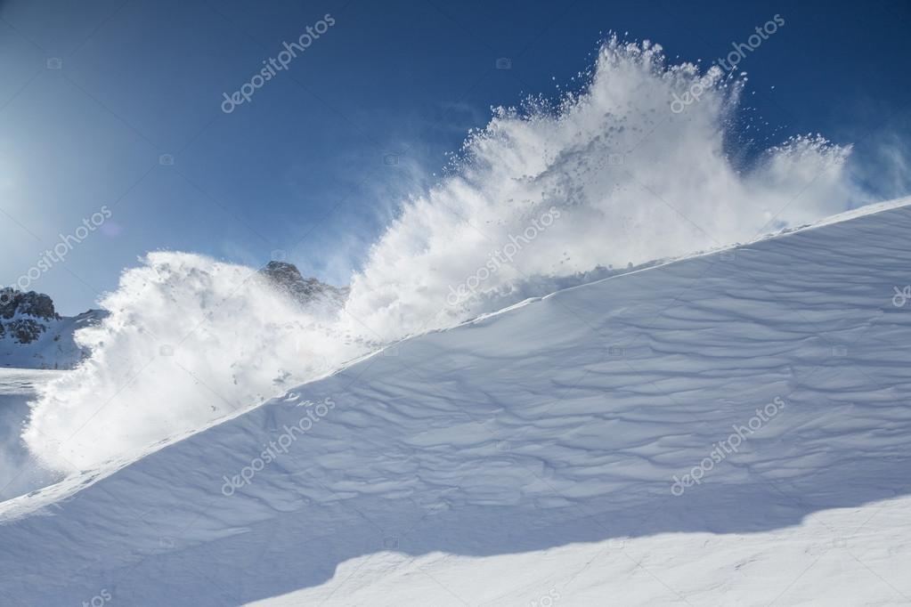 Snow explosion
