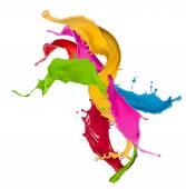 Fotografia spruzzi colorati in forma astratta
