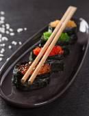 Fotografie Japanese seafood sushi set