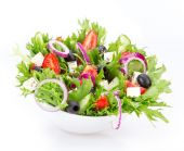 Fotografie Fresh healthy salad on bowl
