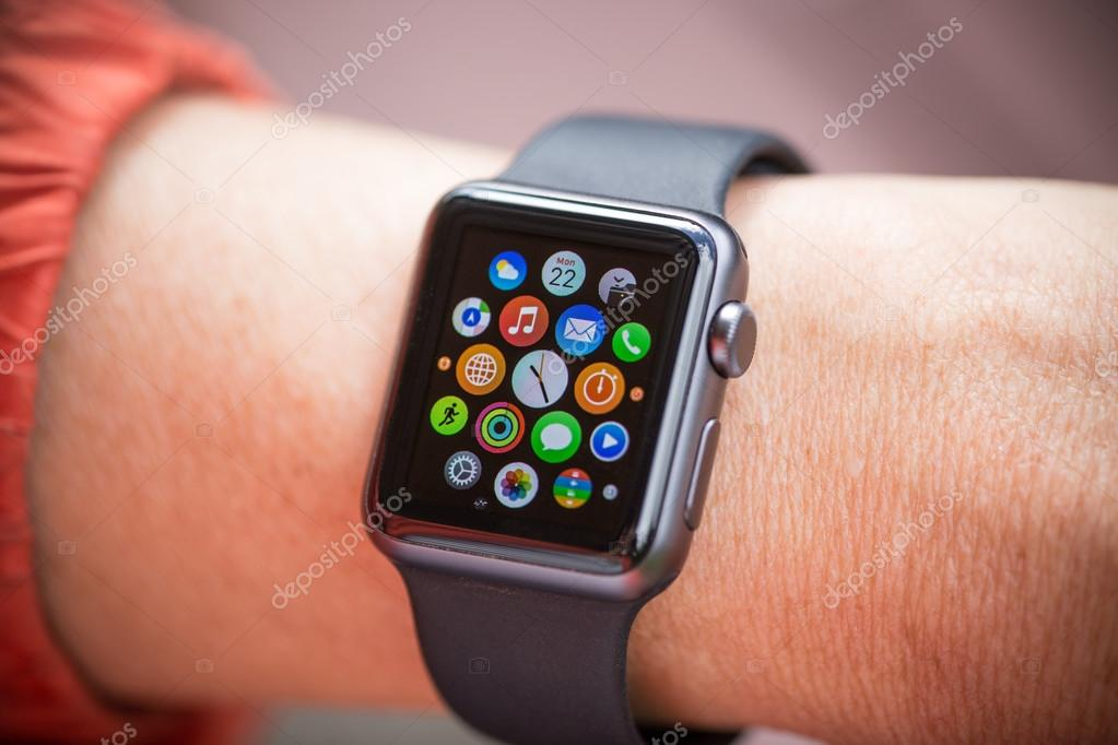 Close-up of Apple Watch.