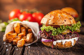 Fotografie Detail domácí hamburgery