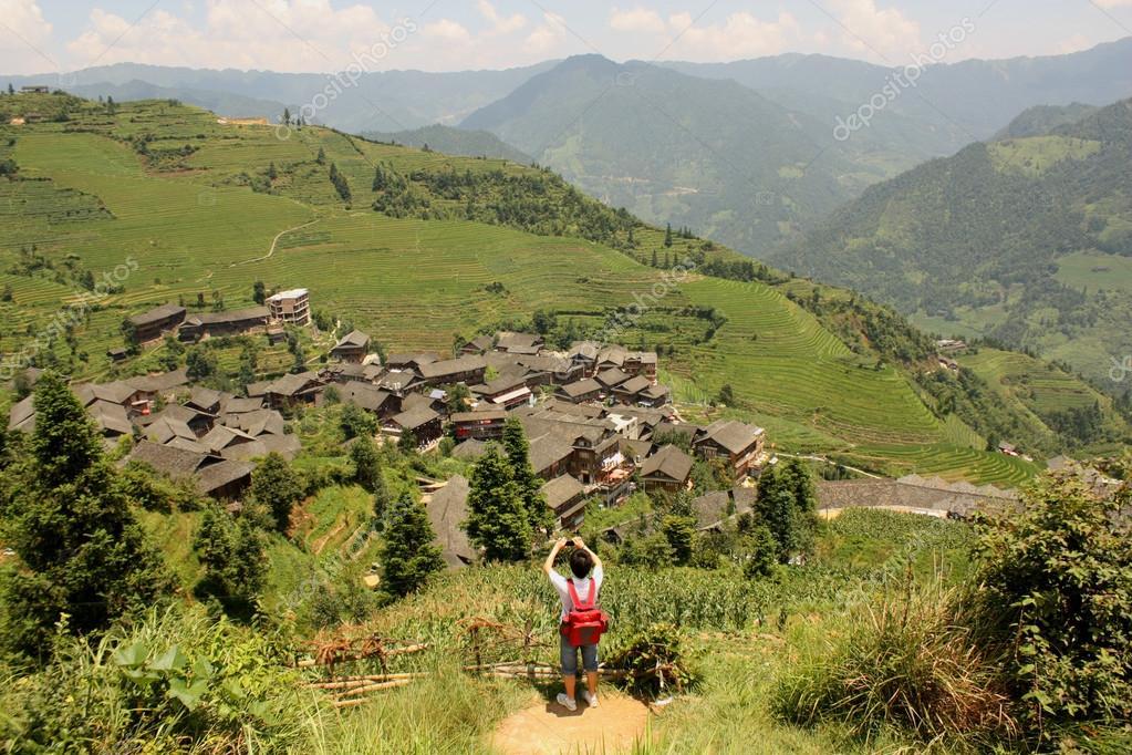 Turismo En China Terrazas De Arroz Paddy Pinjan Foto De