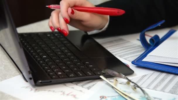 Accountant Writing Amount Of Earnings
