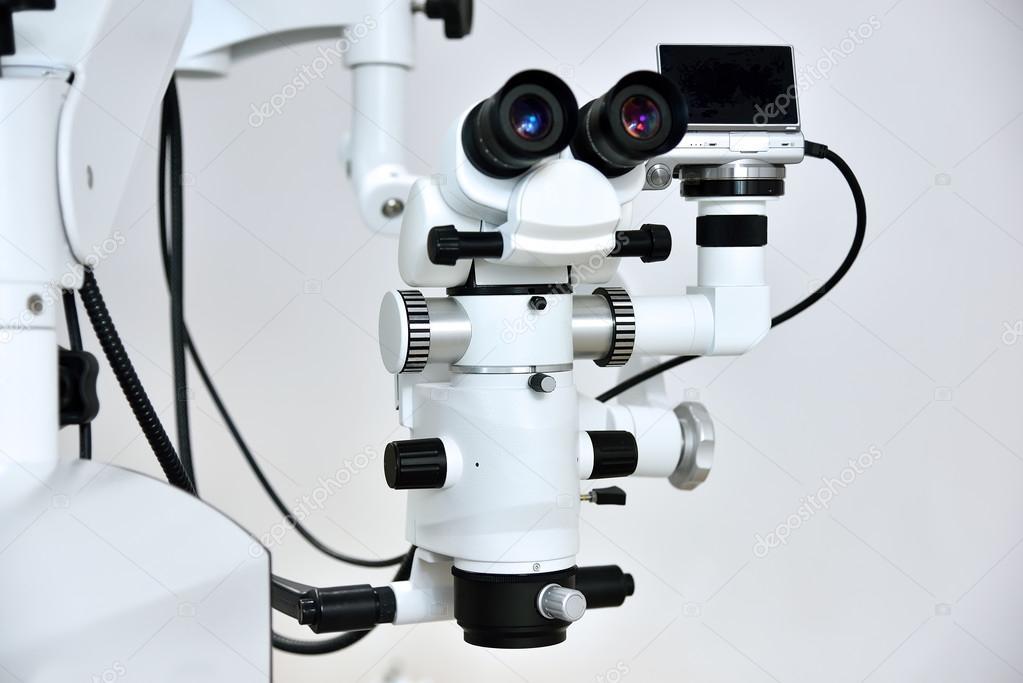 Tandläkare mikroskop med foto kamera för en tänder