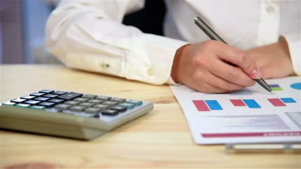 Accountant Woman Considers Profit, Close Up