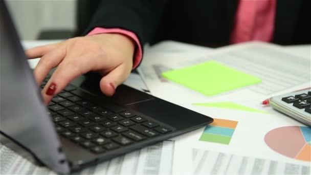 Businesswoman Analyzing Market Data