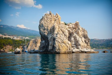 Adalary rocks in the Black Sea, Crimea, Gursuf