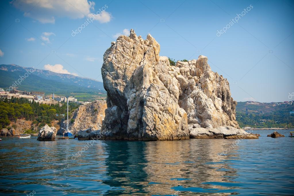 Adalary rocks in the Black Sea, Crimea, Gursuf