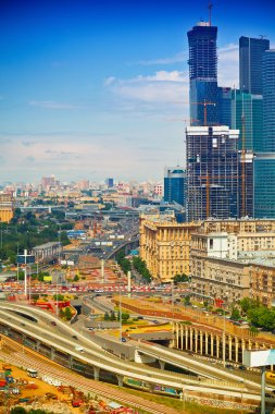 Business activity of the city of Moscow - highways, architecture, building an international business center Moscow-City