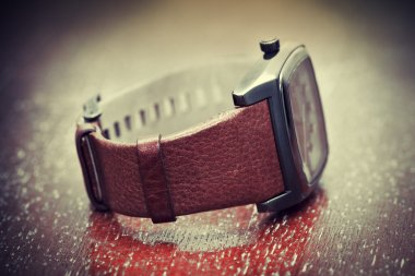 Wrist Watch with leather strap