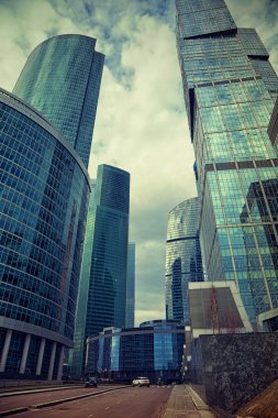 Modern international business center Moscow-City in Moscow, Russia.