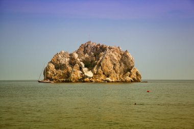 Attraction of the Crimea - Black Sea and rock Adalary
